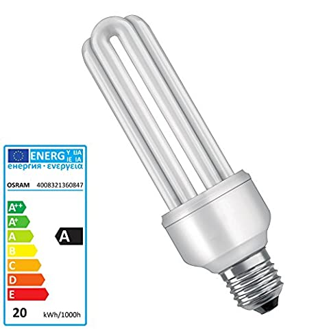 Osram Energiesparlampe E27Rohre 20W = 86Kühles Tageslicht