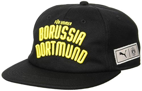 PUMA BVB Premium Downtown Cap Black-Cyber Yellow, Adult