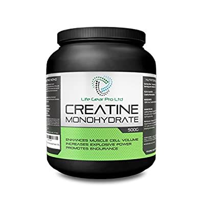 Micronised Creatine Monohydrate Powder 500g Pure Unflavoured Creatine from Life Gear Pro LTD