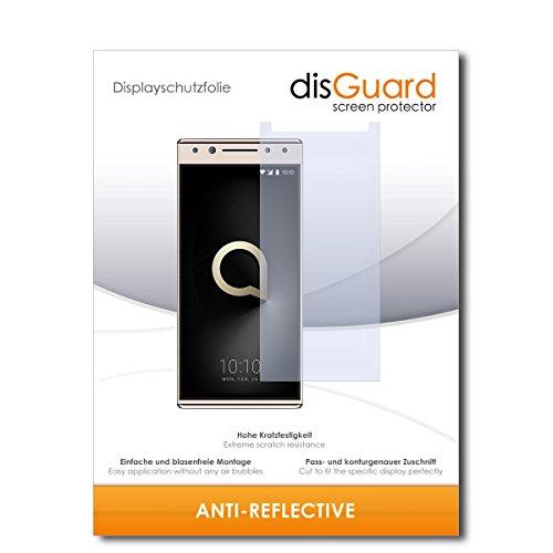 disGuard® Bildschirmschutzfolie [Anti-Reflex] kompatibel mit Alcatel 5 [2 Stück] Entspiegelnd, Matt, Antireflektierend, Extrem Kratzfest, Anti-Fingerabdruck - Panzerglas Folie, Schutzfolie