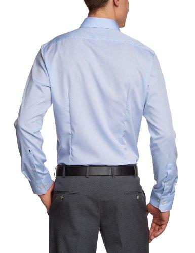 Schwarze Rose Chemise de travail  Col chemise classique Manches longues Homme Bleu - Blau (hellblau 15)