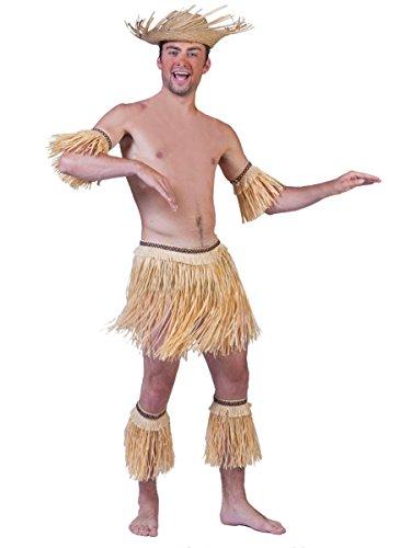 Lot / Set von 6 Stück - Tahitian Bast Kostüm zusammen (Bast Kostüme)