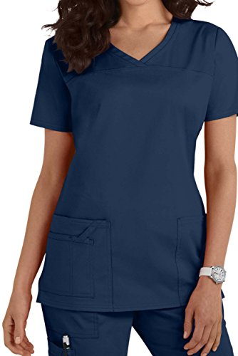 Womens Navy Uniform - Smart Uniform 1122 V Neck Top