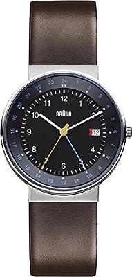 Braun BN0142BKBRG - Reloj de cuarzo para hombre, con correa de cuero