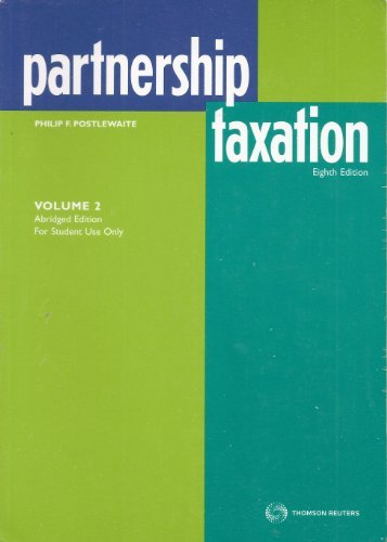 partnership-taxation-volume-2-by-philip-f-postlewaite-2010-08-02