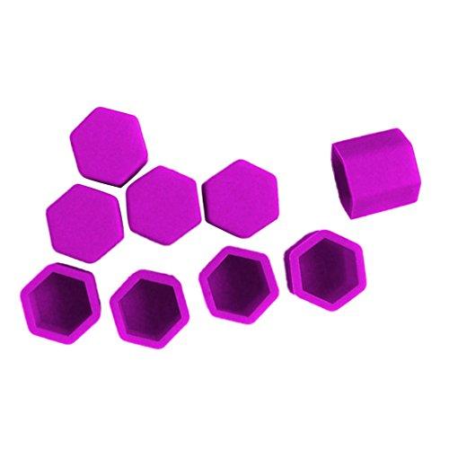 Shiwaki Le Paquet Générique De 20 Vis De Roue De Voiture Automatique Protège Le Boulon De Couvercle D'écrou De Couvercle De Boulon 17mm Diverses Couleurs - Violet