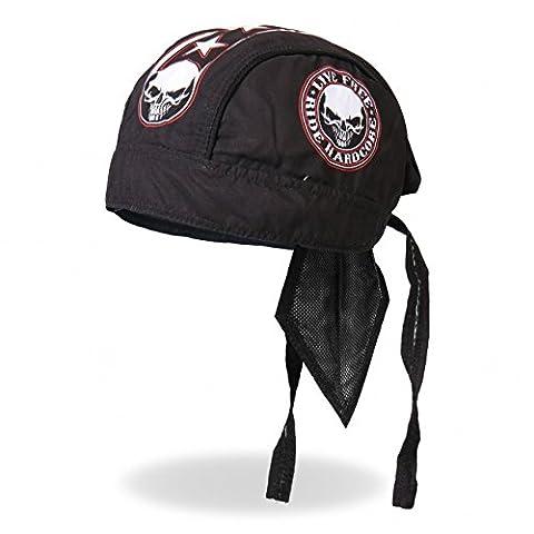 Authentic Bikers Premium Headwraps, STENCIL SKULL,