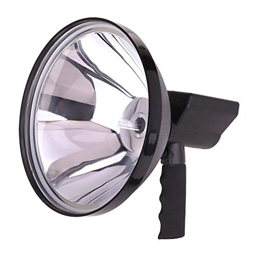 Zhuotop HID-Spot-Licht 100 W 240 mm super hell Lange Reichweite Suchlicht Offroad Jagd Camping Arbeitsleuchte Auto Zigarettenanzünder Kabel mit Batterieumwandlungs-Clips -