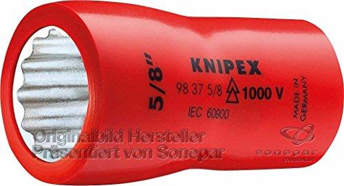 Knipex 98 37 9/16 Steckschlüsseleinsatz 9/16 Zoll, Länge in mm: 47, 1 Stück