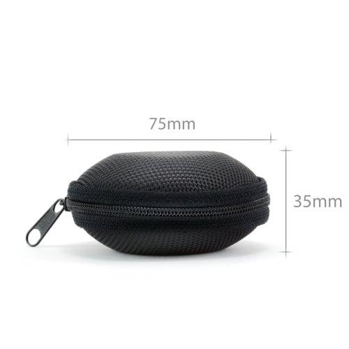 CSL - Kopfhörer Schutztasche | formstabile Nylontasche/weiches Stoffinnenfutter | schwarz - 3