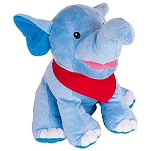 Goki 51548marioneta de Mano Elefante Nira, Azul/Rojo