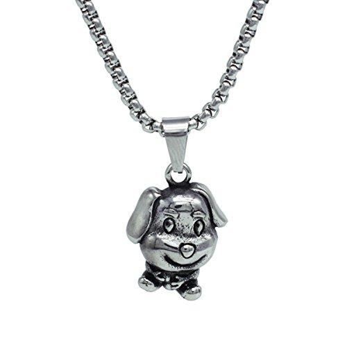 GANG SHI DAI Anhänger Halskette aus Edelstahl im Punk-Stil, Amulettschmuck mit Glückstier