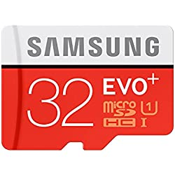 Samsung EVO Plus Class 10 32GB MicroSD 80 MB/S Memory Card with SD Adapter (MB-MC32D)