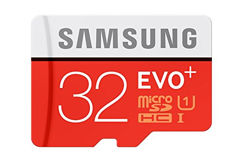 Samsung Evo Plus microSD Card, Red/Grey