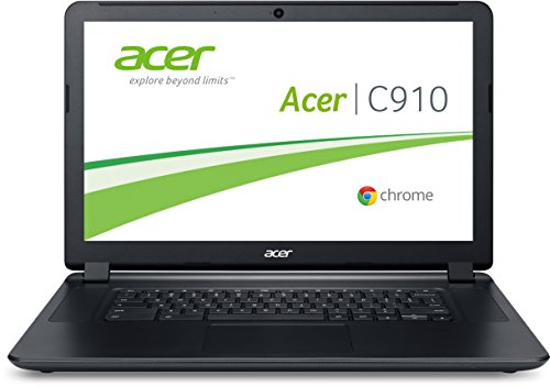 Acer Chomebook C910-C4QT 39,6 cm (15,6 Zoll) Notebook (Intel Celeron 3205U, 2 GB RAM, 16 GB SSD, Intel HD Graphics, Chrome) schwarz