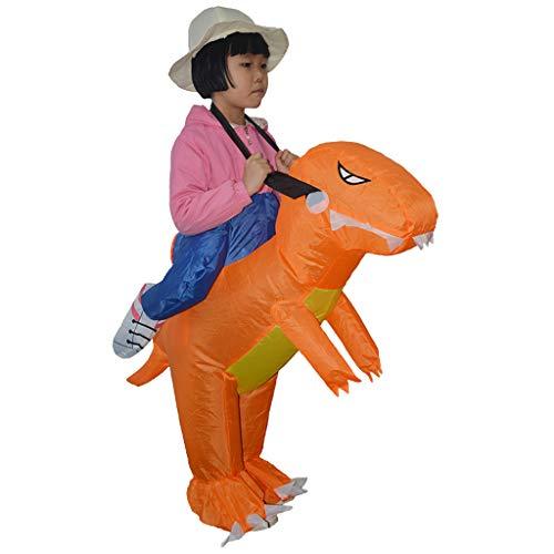 Kind Kostüm Reiter - P Prettyia Kinder Aufblasbares Kostüm Luft Anzug Fatsuit für Cosplay und Hen Party, Dinosaurier Reiter Figur