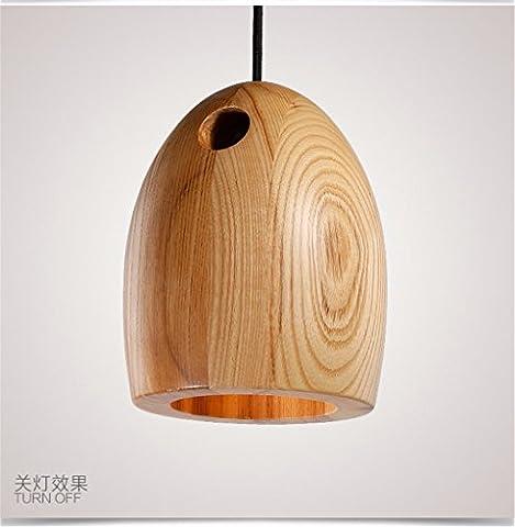 XBLIGHTING Poignée industrielle en bois moderne en bois sculpté à