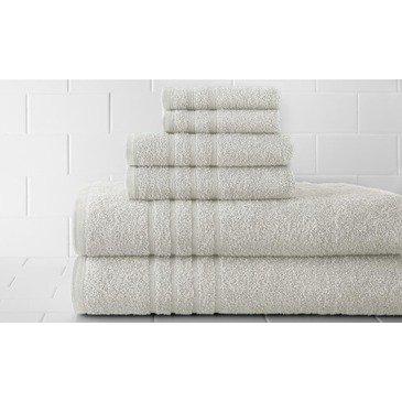 Pacific Coast Textiles 600 GSM 100 Percent Spa Collection Cotton Solid Towel Set, White, Single,