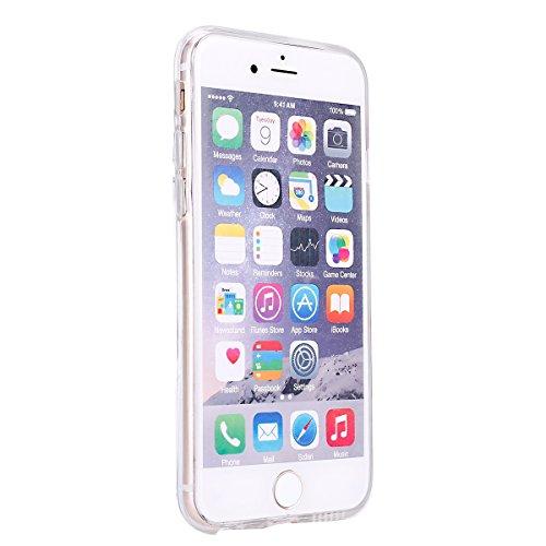 Coque Housse pour iPhone 6/6S, iPhone 6S Coque Silicone Etui Housse,iPhone 6 Souple Coque Etui en Silicone,iPhone 6/6S Silicone Transparent Case TPU Cover, Ukayfe Etui de Protection Cas en caoutchouc  Marbre-Bleu