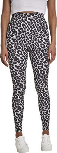 Urban Classics Damen Ladies AOP High Waist Sport Leggings, Mehrfarbig (Grey Leo 02064), W(Herstellergröße: L)