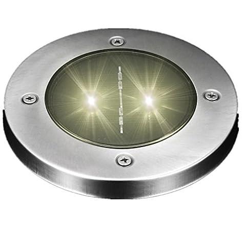 ESAILQ Solar LED Outdoor Pfad Licht Spot Lampe Yard Garten Rasen Landschaft wasserdicht (E)