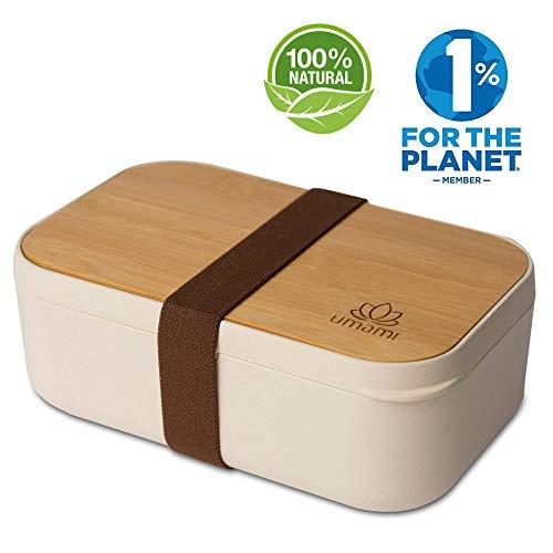 UMAMI® Lunchbox Bamboo Fiver 1000ml | Natural And Bamboo