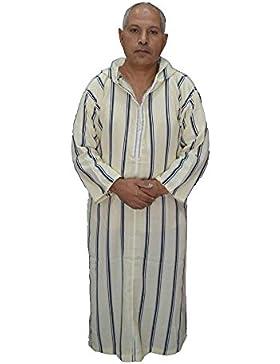 Chilaba nº 3, gal.laba, túnica,hombre modelo marroquí, árabe, con capucha , mide 66 cm de sisa y 135 de largo,...