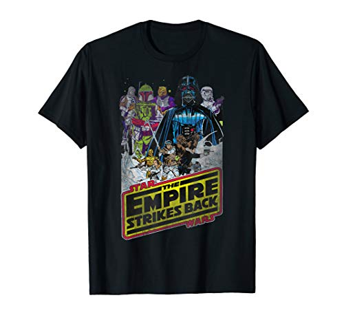 Star Wars Distressed Vintage Empire Strikes Back Poster T-Shirt -