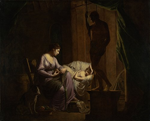 """Penelope Unraveling il Web By Joseph Wright of Derby Digital Print Poster """", 33.11x26.73"""