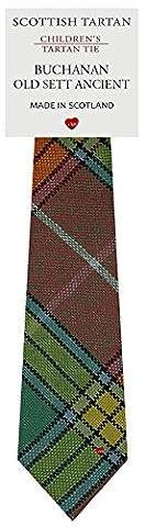 Boys Clan Tie All Wool Woven in Scotland Buchanan Old Sett Ancient Tartan