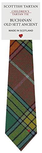 I Luv Ltd Garçon Tout Cravate en Laine Tissé et Fabriqué en Ecosse à Buchanan Old Sett Ancient Tartan