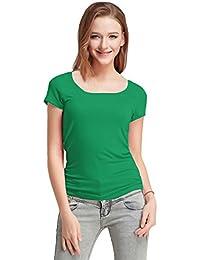 FASHION LINE Green Women's Short-Sleeve T-Shirt