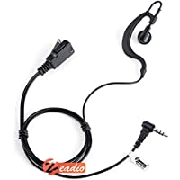Zeadio g Shape walkie talkie auricolare con microfono per voce, Yaesu Vertex 1 pin 3.5 mm radio bidirezionale