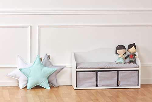 KraftKids Kindersitzbank - weiß mit 3 Körben