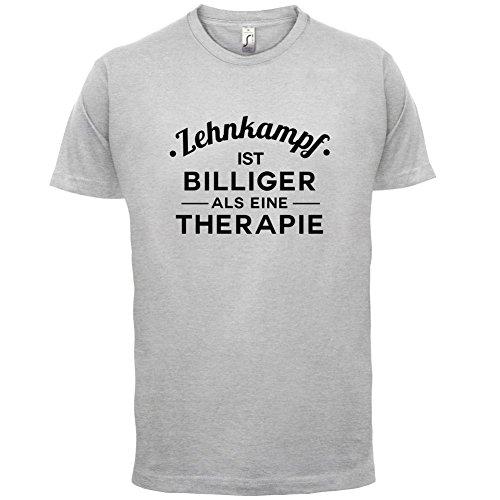 Zehnkampf ist billiger als eine Therapie - Herren T-Shirt - 13 Farben Hellgrau