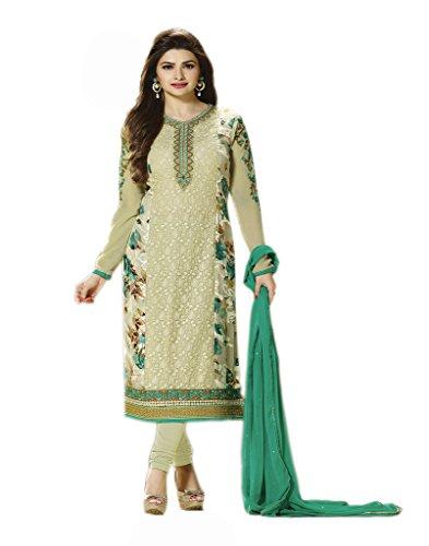 VinayTM Party Wear Formal Wear Suit Embroidered Georgette Sea Green Semistitched Salwar Kameez Dupatta