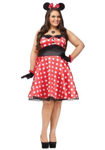 Plus Size Retro Miss Mouse Fancy dress costume ()