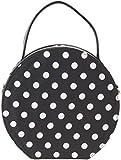 Küstenluder Damen Tasche Lieke Vintage Polka Dot 50s Handbag Schwarz