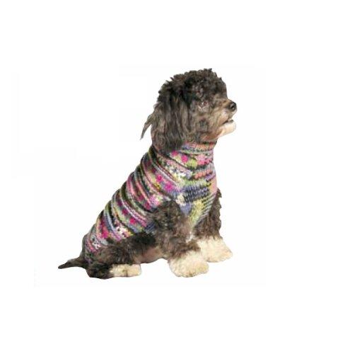 Chilly Dog Woodstock Hunde-Pullover, Größe XXL, Violett