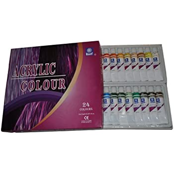 Memory Professional Artists Acrylic Paint Set 24 Colours in 12ml
