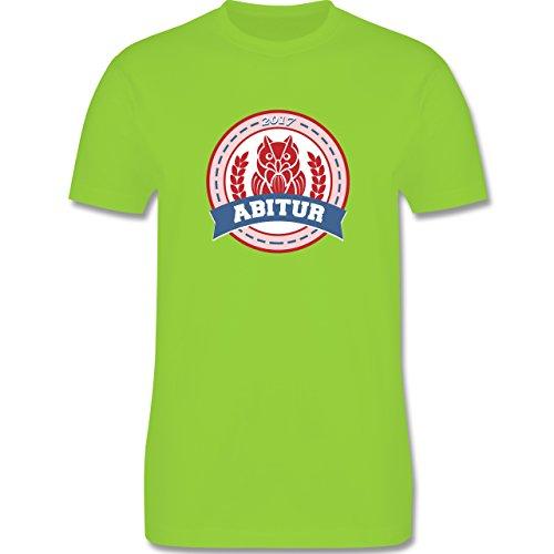 Abi & Abschluss - ABITUR 2017 Badge mit Eule - Herren Premium T-Shirt Hellgrün