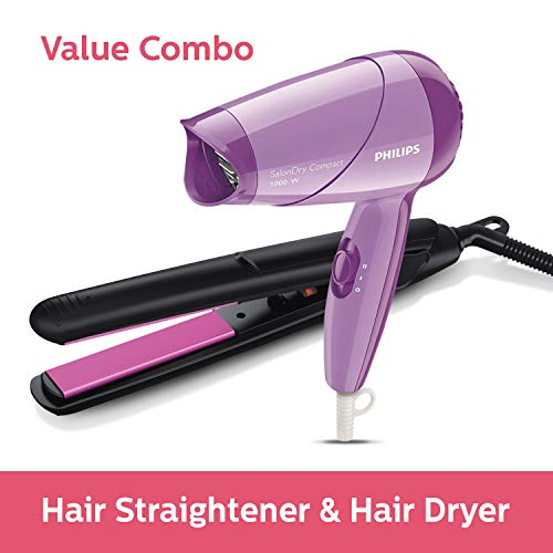 Philips Straightener (Black) & Dryer (Purple) Combo