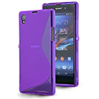 Gr8value Clear Case Thin Transparent Soft Gel S TPU Silicone Case Cover Sony Xperia Z1 - L39H (Plain purple S gel)