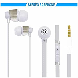 Hello Zone Sporty look and Comfort Fit Stereo Headset Handsfree Headphone Earphone with Mic 3.5 MM Jack for Acer Liquid Jade -White