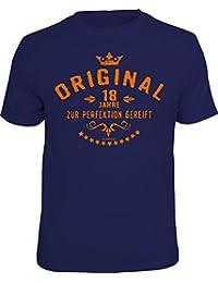 RAHMENLOS Das Geschenk-T-Shirt zum 18. Geburtstag: Original 18 Jahre - zur Perfektion gereift