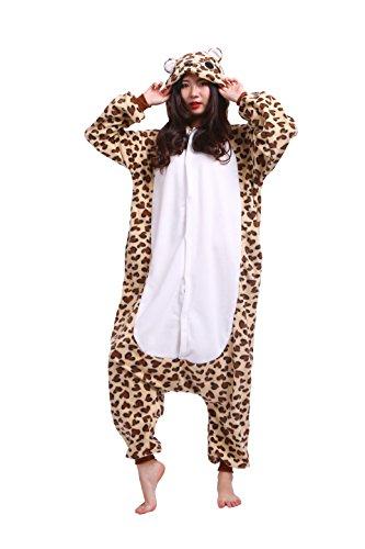 Magicmode Unisexe Costumes Cosplay Animaux Kigurumi Pyjamas Adultes Grenouillère Anime Sweat À Capuche, Vêtements De Nuit Leopard Ours L