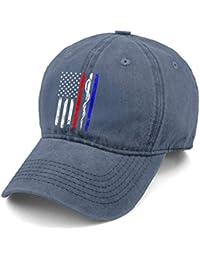 4c9d795c55426 G Binggo Policía y Bomberos y Bandera EMT Gorra de béisbol de Mezclilla  Hombres Mujeres Papá