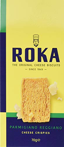 ROKA Käsegebäck mit Parmigiano Reggiano 70g, 2er Pack (2 x 70 g)
