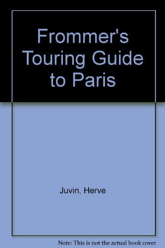 Frommer'S Touring Guide Paris