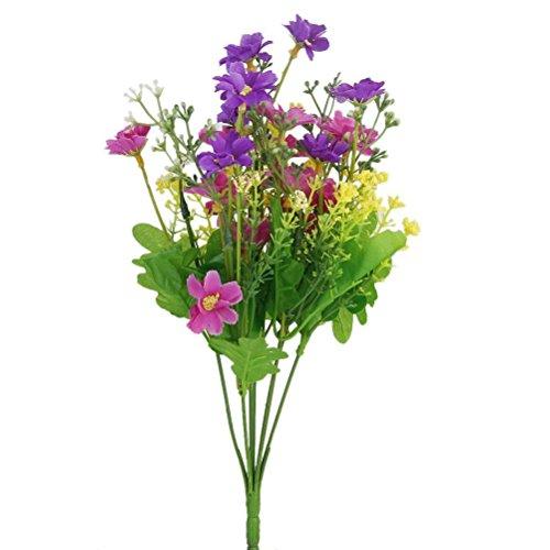 ROSENICE SeideBlume Blumenstrauß Kunstblumen Künstliche Cineraria für Hochzeit Party Fest Haus Büro Bar Dekor